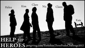 Yorkshire Three Peaks Challenge Image for Indigo t-shirt printing